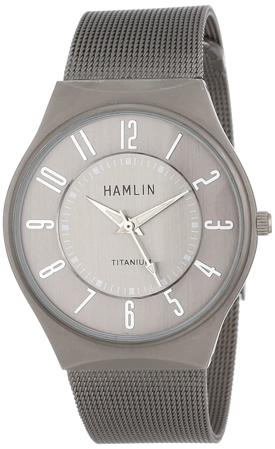 Amazon.com: Hamlin Mens HAMM0314:001/04E92GT Titanium-Plated Watch with Mesh Bracelet: Watches