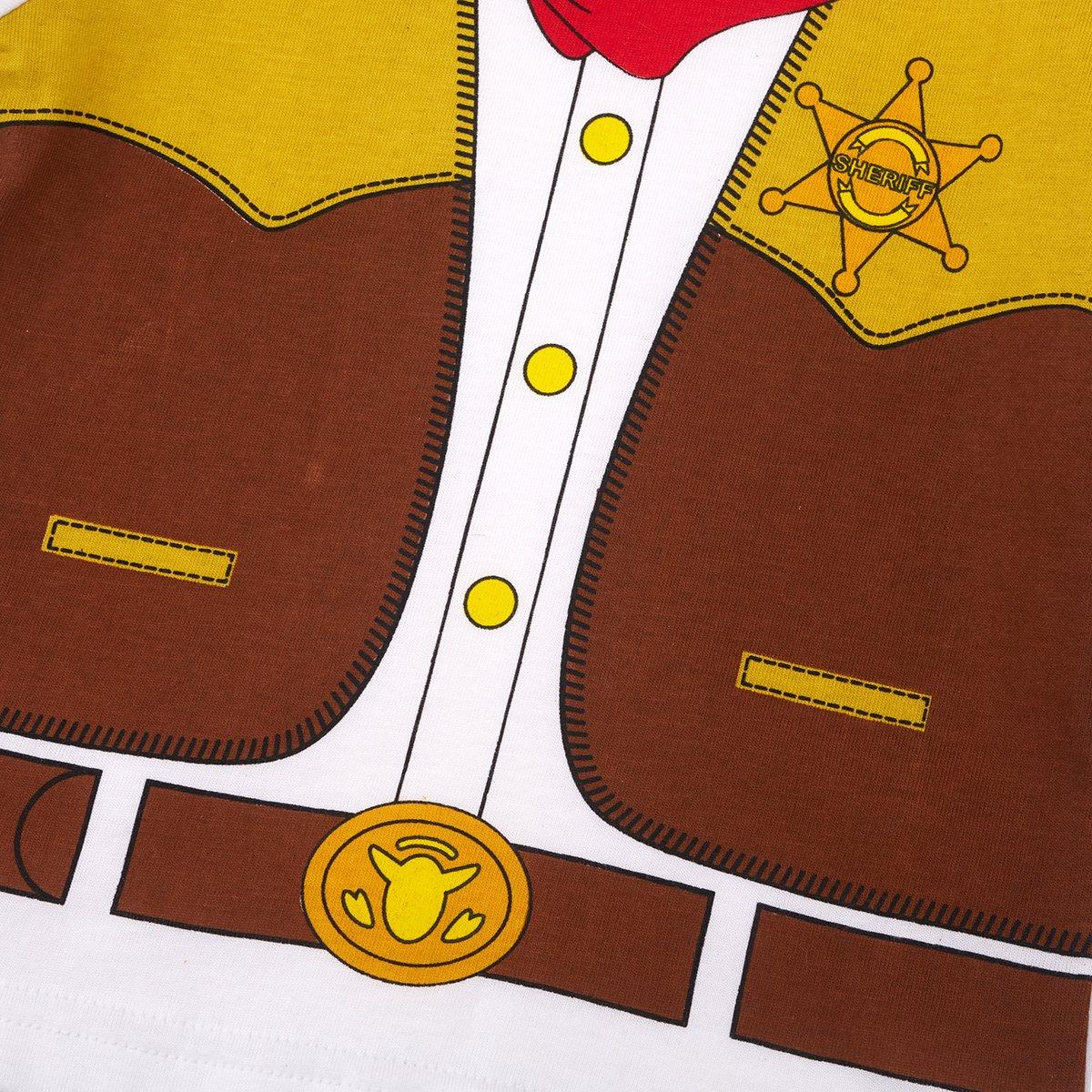 12-18 Months, Cowboy Baby Boys 2 Pieces Western Cowboy Costume Shorts Sets