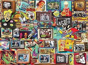 White Mountain Puzzles Retro Jigsaw Puzzle, 550 Piece