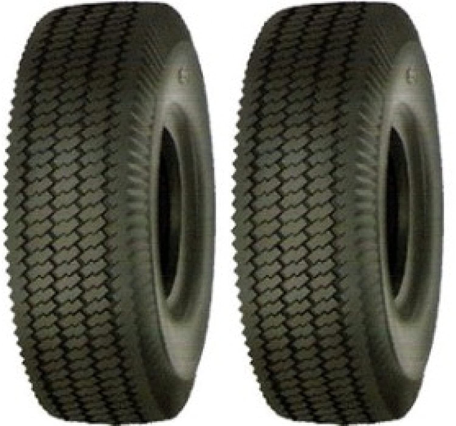 SET OF (2) 4.10/3.50-5 Tubeless 4Ply Rated Sawtooth Rib Tires Major