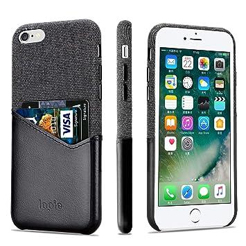 lopie Funda iPhone 6s, Carcasa iPhone 6, [Island Cotton Series] Funda de Piel & Paño [Tarjetero para Tarjeta de Credito] [Compatible con Carga ...