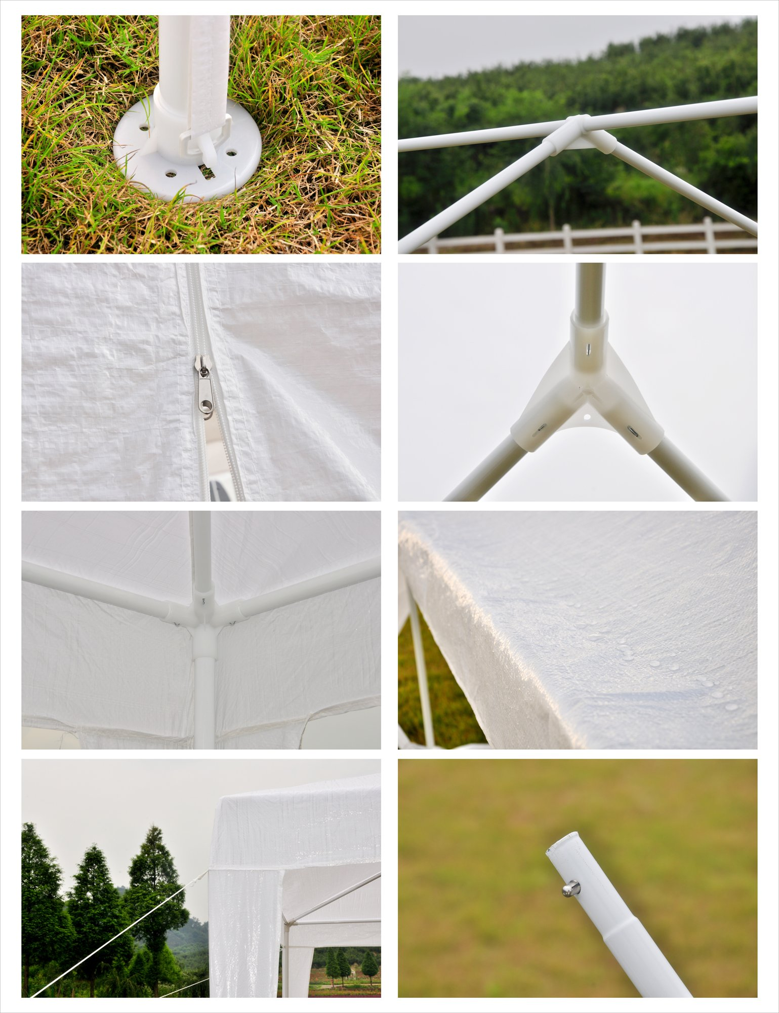GOJOOASIS 10x20 Outdoor Gazebo Wedding Party Tent w/ 6 Removable Walls by GOJOOASIS (Image #3)