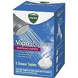 Vicks VapoShower, Shower Tablet, Shower Bomb, Aromatherapy Vapors, Eucaplytus & Menthol, Soothing Vicks Vapor Steam, 5ct