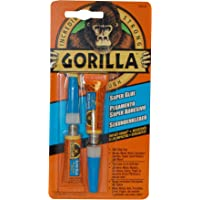 Gorilla Super Glue, Two 3 Gram Tubes, Clear