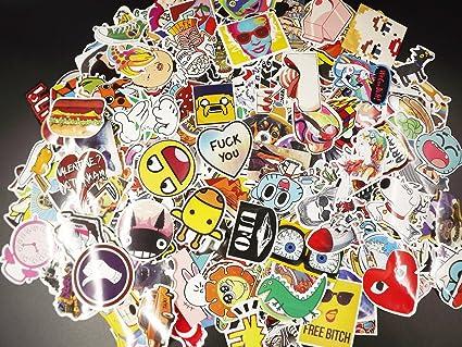 32ab1774eba2 Amazon.com: Edwin Group of Companies 100 Random Skateboard Stickers ...