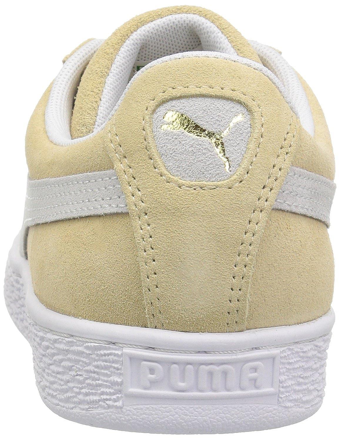 Puma Men's Suede 90681 Honey Mustard White Ankle High