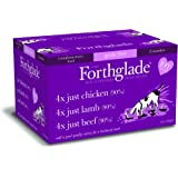 Forthglade 100% Natural Grain Free Complementary Dog Pet Food Just 90% Meat Selection Multi-Pack 395g (12 Pack)