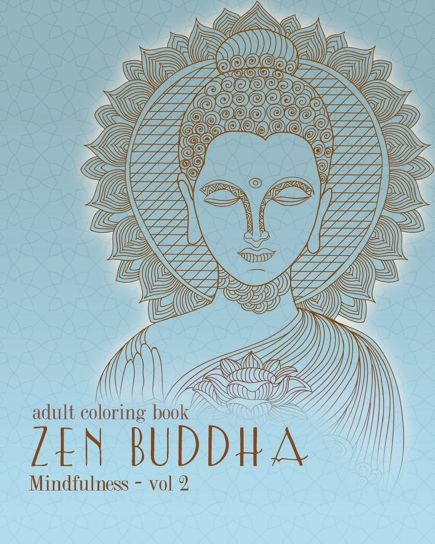 Amazon Adult Coloring Books Zentangle Buddha Doodles And