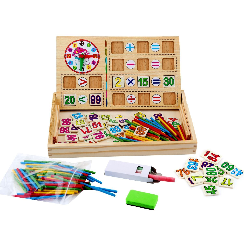 WINGLESCOUT Jouet de Calcul Mathématique Bébé Educatif en Bois Stick Bâton Chiffres Maternelle pour Enfant Cellstar Co. Ltd