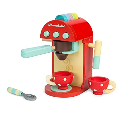 Le Toy Van Honeybake Collection-Cafe Machine Premium Wooden Toys for Kids Ages 3 Years & Up: Toys & Games