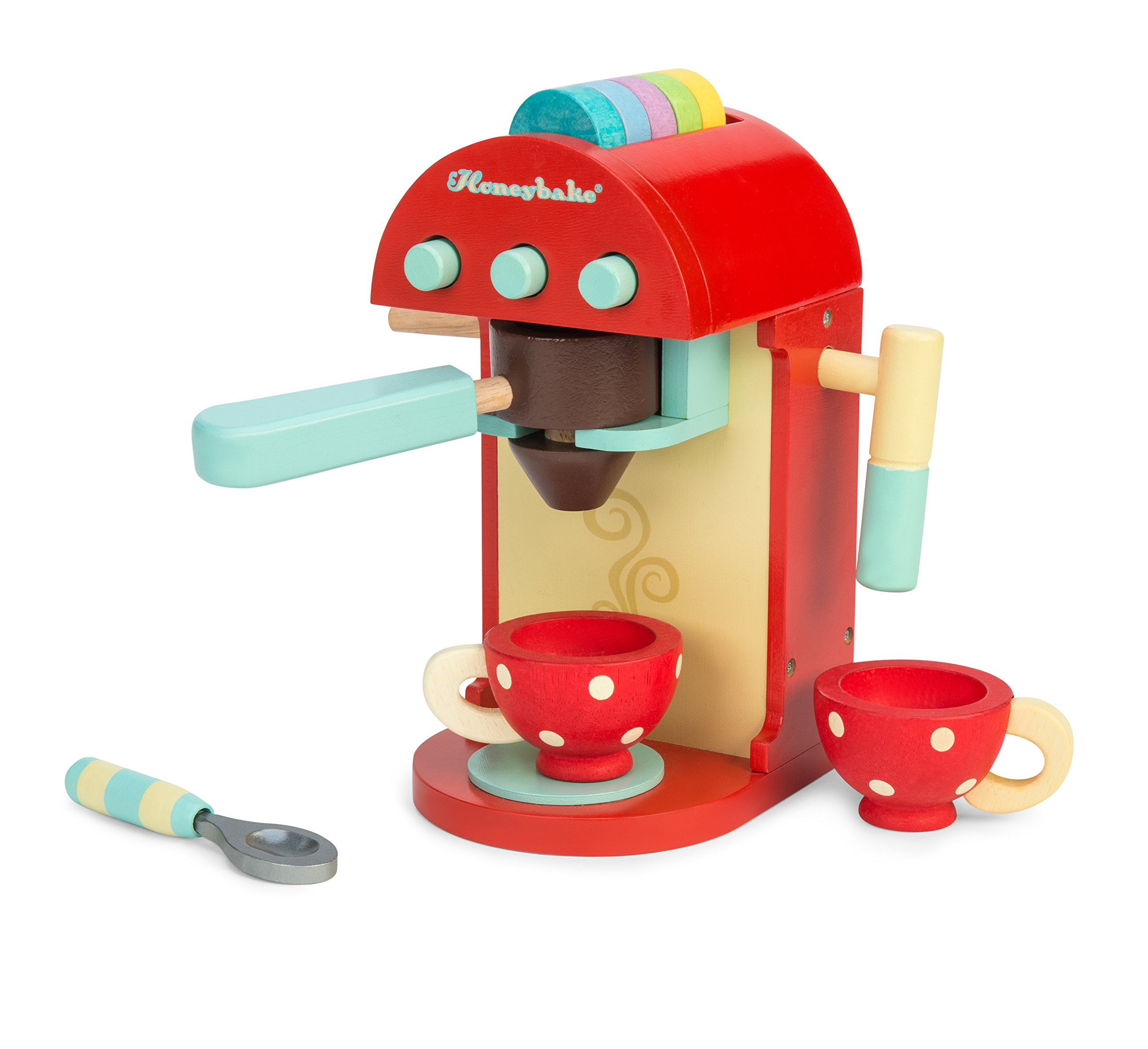 Le Toy Van Honeybake Collection-Cafe Machine Premium Wooden Toys for Kids Ages 3 Years & Up by Le Toy Van