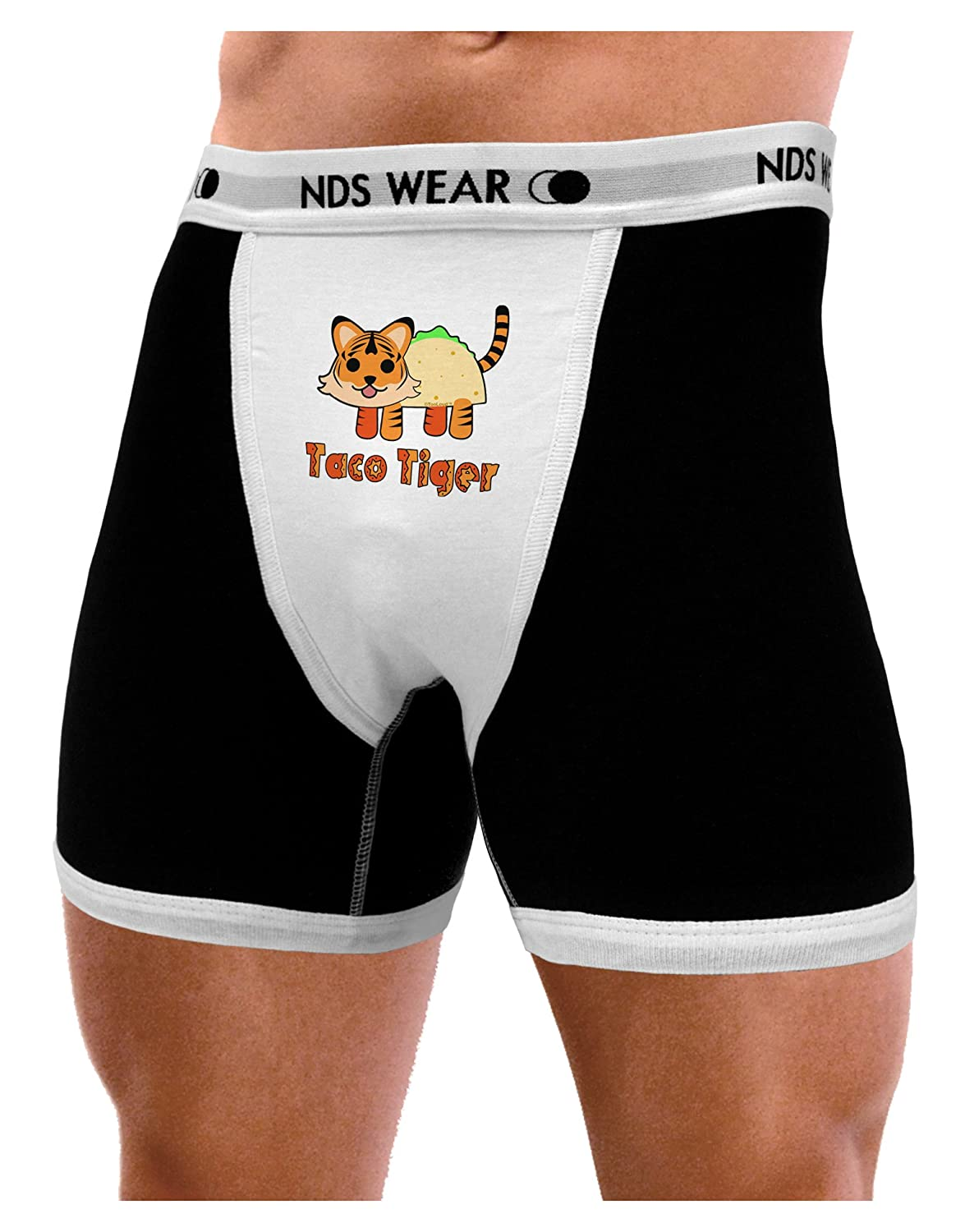 NDS Wear TooLoud Cute Taco Tiger Text Mens Boxer Brief Underwear