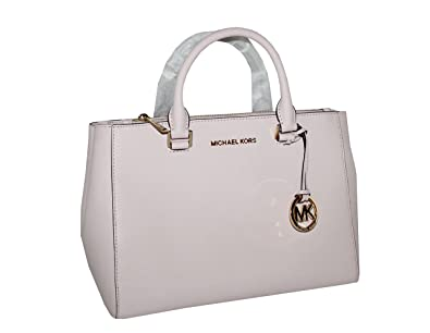 26ab7fdc5e6b27 Amazon.com: Michael Kors Kellen Medium Saffiano Leather Satchel (Blossom  Pink): Shoes