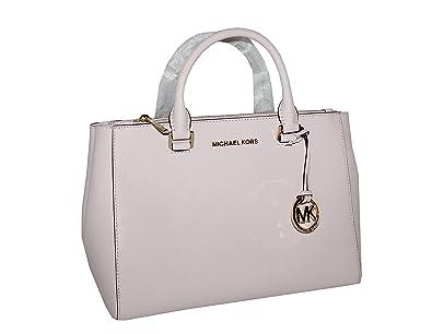 07c9ae097f56 Amazon.com: Michael Kors Kellen Medium Saffiano Leather Satchel (Blossom  Pink): Shoes