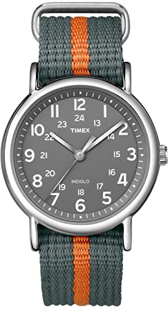 70dc47191c64 Buy Timex Weekender Indiglo Analog Grey Dial Unisex Watch - T2N649 Online  at Low Prices in India - Amazon.in
