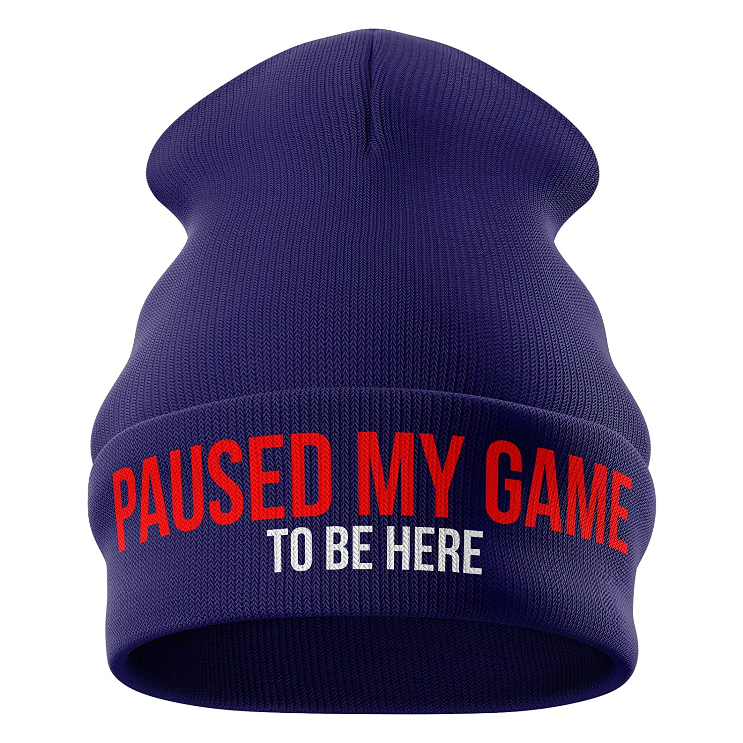 Gifts for Gamers - Paused My Game to be here Funny Beanie Hat - Gamer Gifts Gifts for him Gaming Gifts