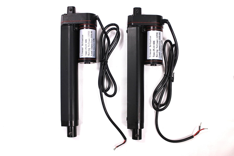 2 Pcs 12 Inch Stroke Linear Actuator 12volt 12v 225 Wiring Diagram Pounds Lbs Maximum Lift Automotive