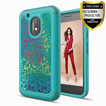 Athchu Funda Motorola Moto G4 Play Carcasa con Protector de Pantalla HD para teléfono, Resistente a Prueba de Golpes Funda rígida de protección TPU ...