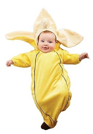 Amazon Com Underwraps Costumes Baby S Banana Bunting Yellow
