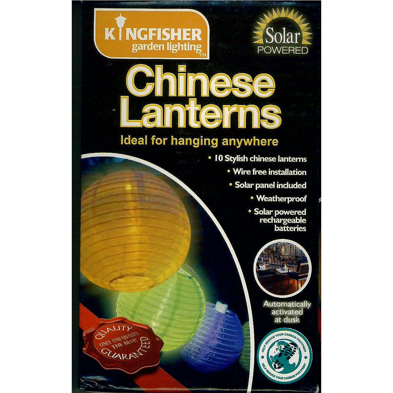 Kingfisher SLCHINA - Linternas LED solares de colores chinos, (10 unidades): Amazon.es: Jardín