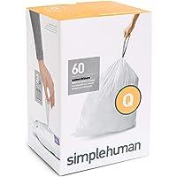 simplehuman Code Q Custom Fit Trash Can Liner, 3 refill packs (60 Count), 50-65 Liter / 13-17 Gallon