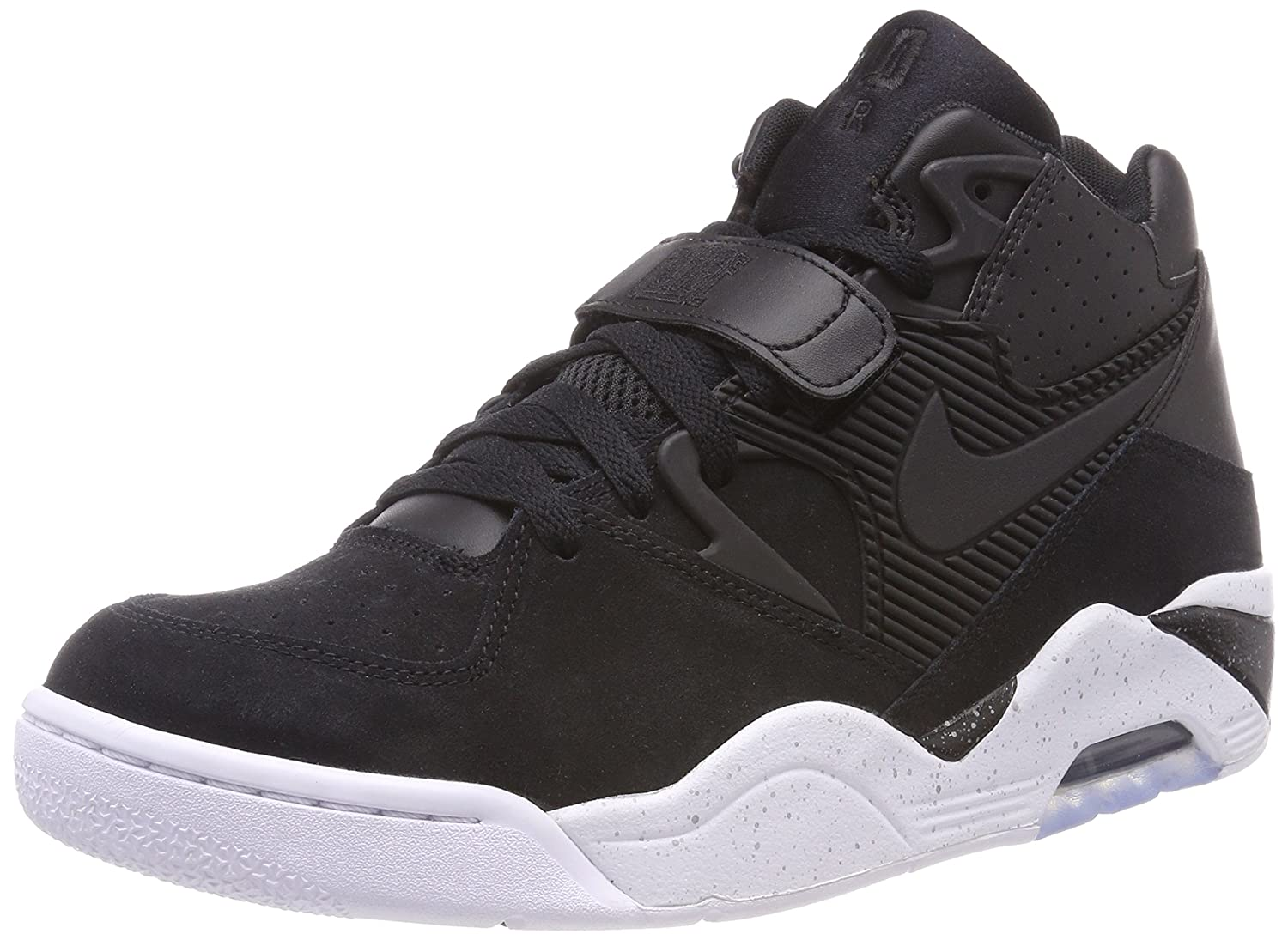 huge selection of 3be6a a3b4a Amazon.com | Nike Air Force 180 Men's Basketball Shoes Black/Black-White  310095-003 | Basketball