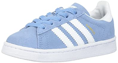 reputable site a2995 5f969 adidas Originals Baby Campus EL I, Ash BlueWhiteWhite, 4 Medium
