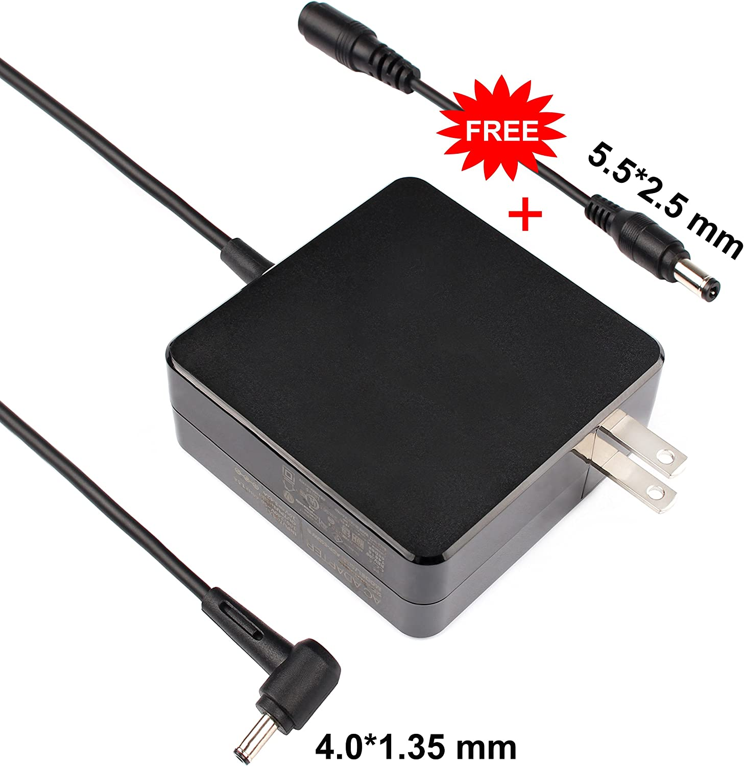 Charger Power Ac Adapter 65w for ASUS X556UQ F510UA F556UA TP510UQ TP410UA TP410UR UX360CA UX360C UX330UA UX330U UX310UQ UX410UQ UX430U UX430UQ UX303LA UX303LB UX303LN UX303UA S510UA S510UN X510U X541