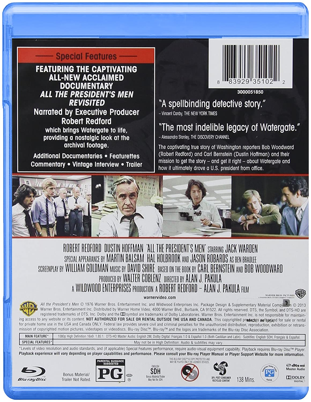 Amazon.com: All The President's Men: 2 Disc Special Edition (BD) [Blu-ray]: Dustin Hoffman, Robert Redford, Jack Warden, Martin Balsam, Hal Holbrook, ...