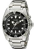 Seiko Men's SKA371 Kinetic Dive Analog Japanese Quartz Stainless Steel Silver Watch