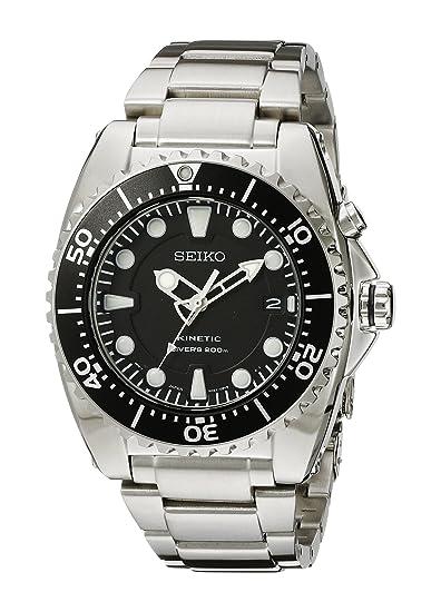 223e6c93fedd8 Seiko Men s Kinetic Dive -Tone Watch Black SKA371  Seiko  Amazon.ca ...