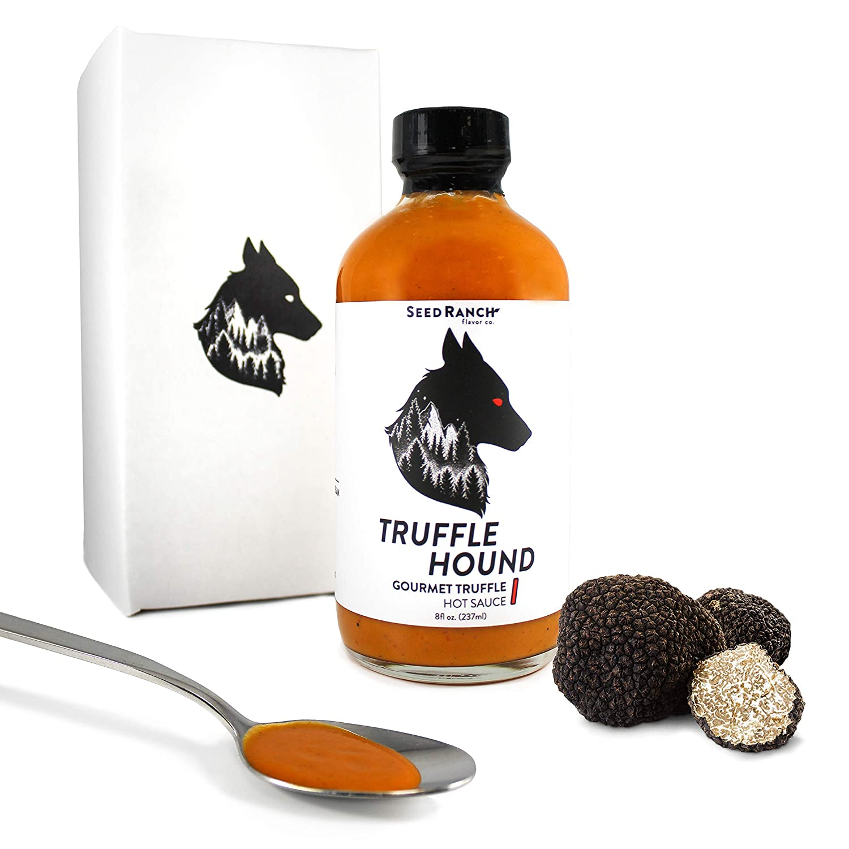 Seed Ranch - Truffle Hound (Medium Heat) - Gourmet Truffle Hot Sauce - Black Truffles, Ghost Pepper, Chili De Arbol - Plant Based, Paleo and Keto Friendly, Gluten Free, Low Carb