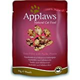 Applaws Cat Food Pouch Tuna and Prawn, 70g, Pack of 12
