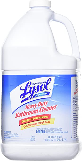 Professional Lysol Brand 94201ea Disinfectant Heavy Duty Bath Cleaner Lime 1 Gal Amazon Co Uk Kitchen Home