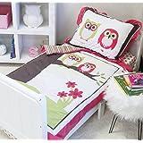 Pam Grace Creations 8 Piece Sweet Dream Owl Toddler Bedding Set, Pink