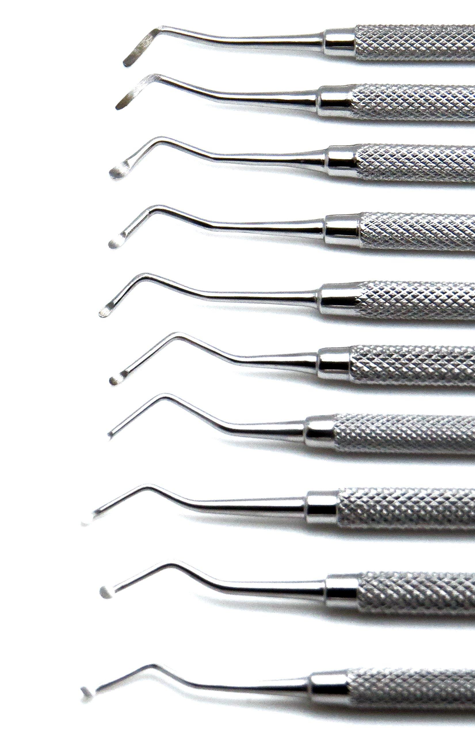10 Pcs Dental Superior Excavator Spoon Ends 1mm-2.5mm Restorative Instrument by Superior (Image #3)