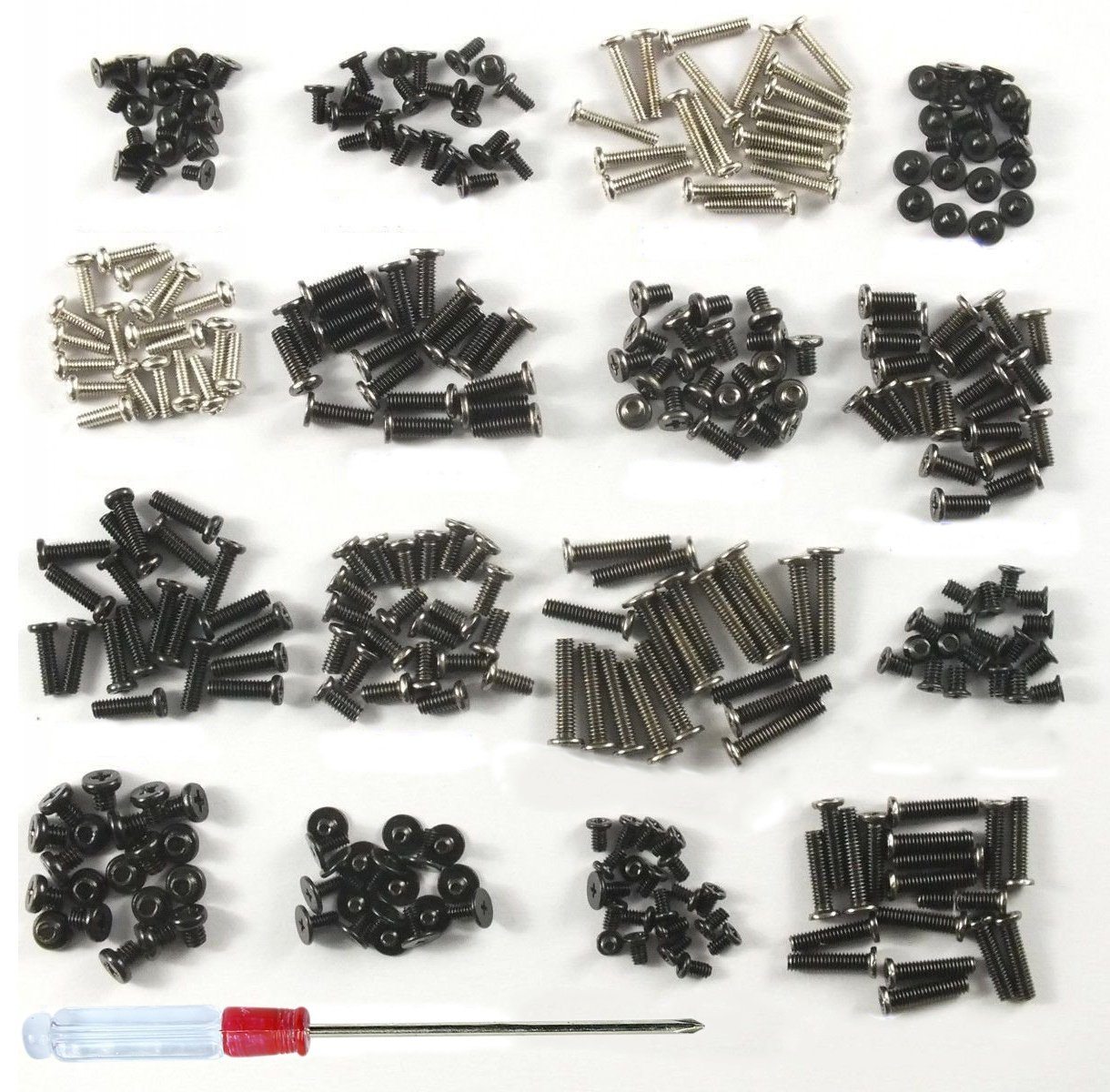 800 Pieces Laptop Screws Assorted Universal Notebook Computer Screws Kit Repair Screw with Screwdriver For IBM HP Dell Lenovo Samsung Sony Toshiba Gateway Acer ¡­