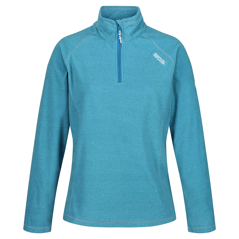 Regatta Womens Montes Lightweight Half-zip Mini Stripe Microfleece Fleece