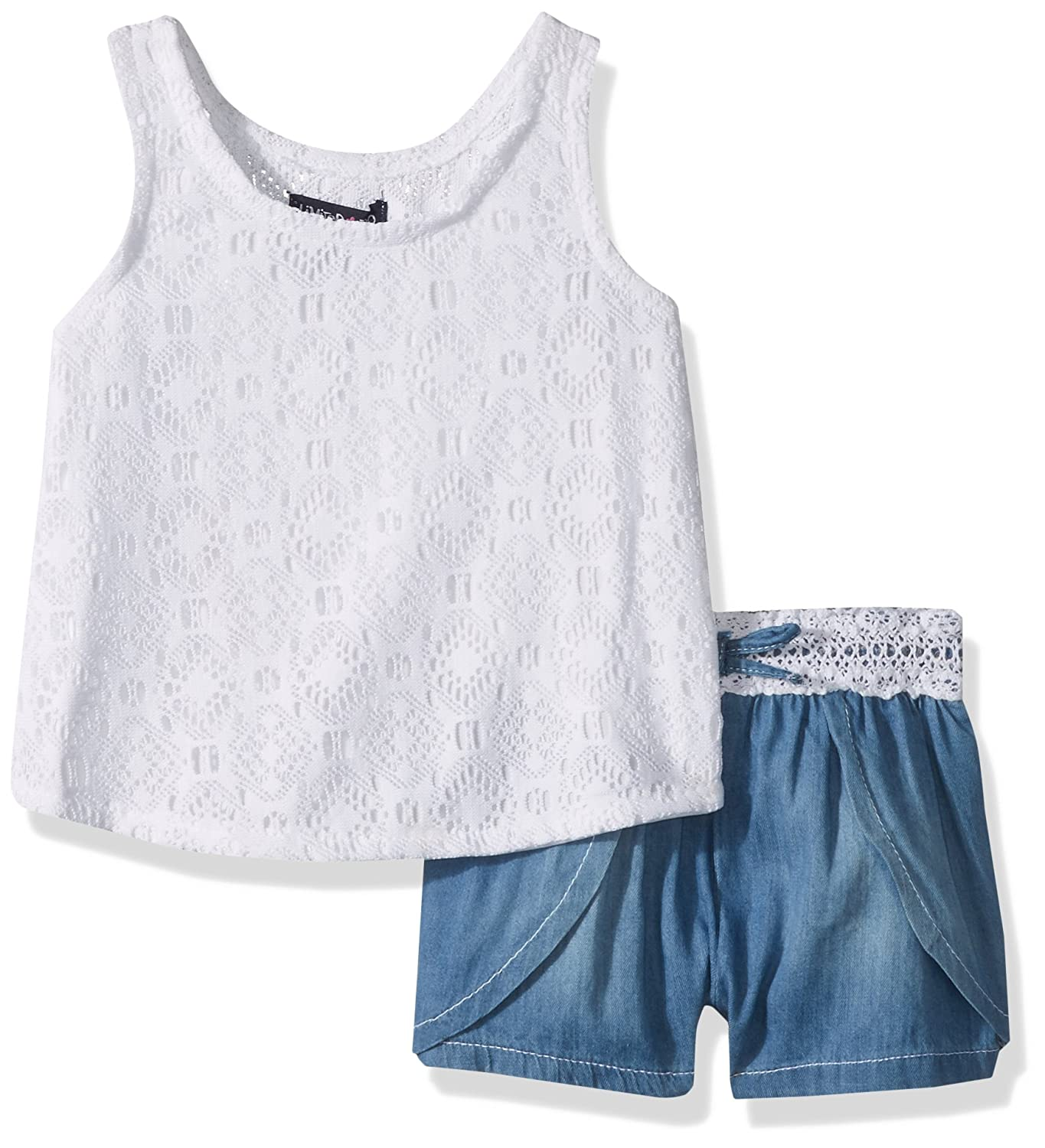 Limited Too girls 2 Piece Wrap Tank Top and Denim Short 3068_1