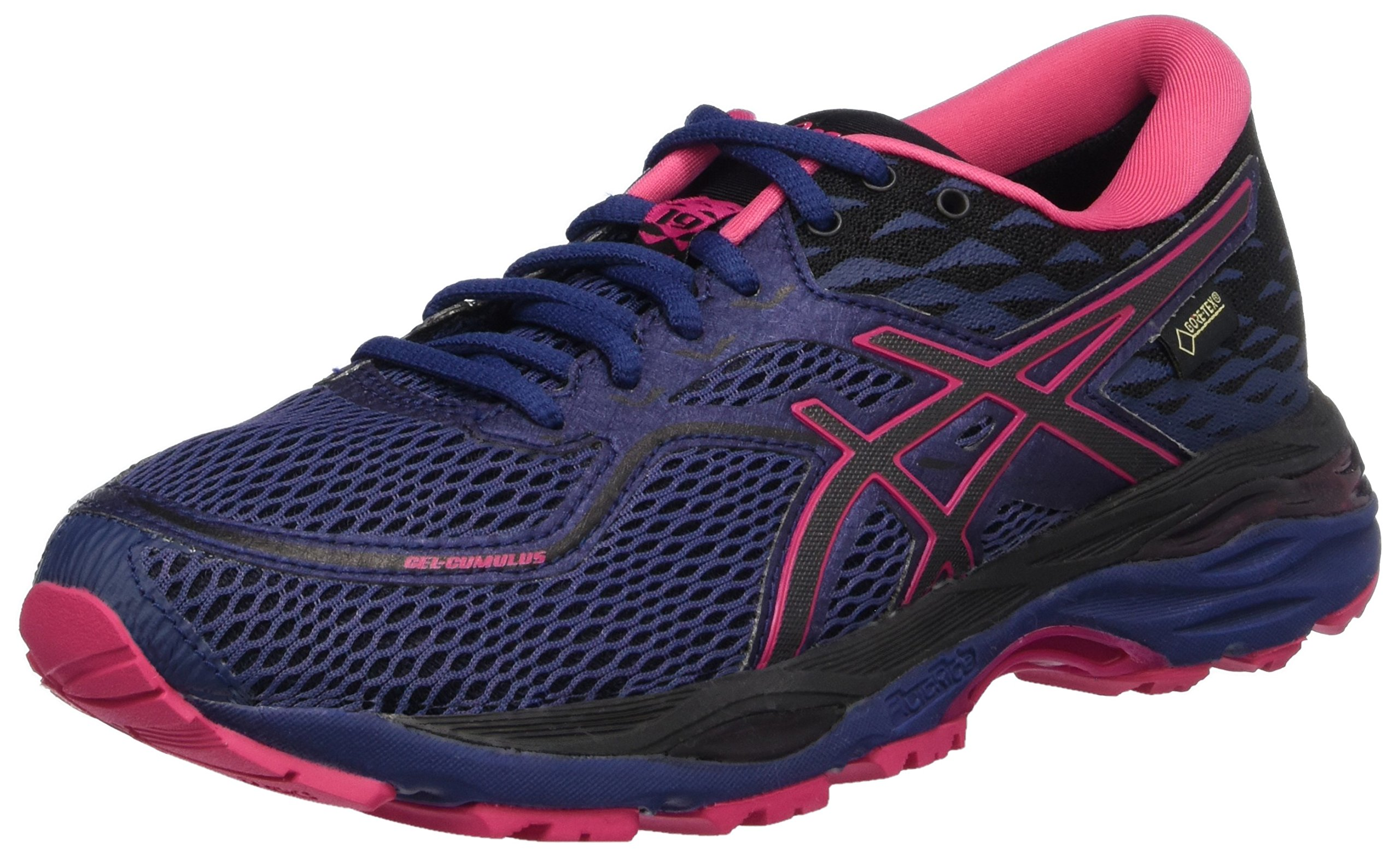 ASICS Men's Gel-Cumulus 19 Running Shoe (5.5, Indigo Blue/Black/Cosmo Pink)