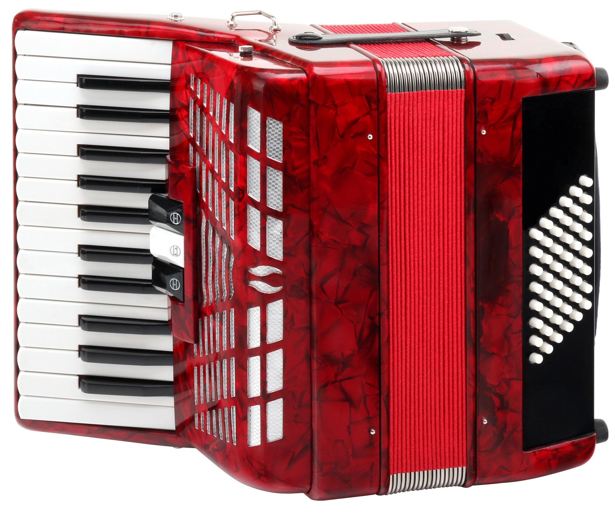 Classic Cantabile 48 Bass Accordion Secondo III Red by Classic Cantabile