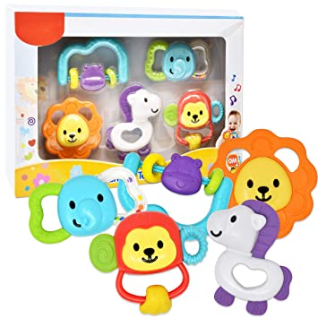 Amazon.com   Number 1 in Gadgets Baby Teether Set 6f4ad51921