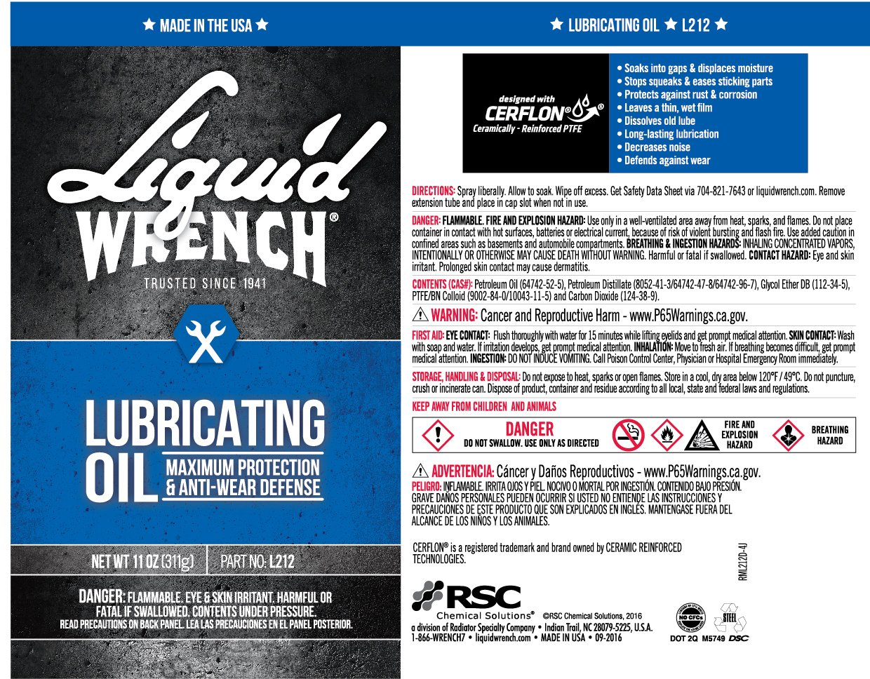Liquid Wrench L212-12PK Lubricating Oil - 11 oz, (Case of 12) by Liquid Wrench (Image #3)