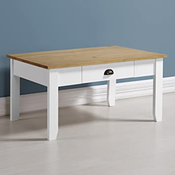 Beau Home Essentials Ludlow Coffee Table In White/Oak