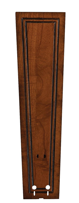 Fanimation B5131RC Carved Bulge Frame Wood Blade, 22-Inch, Rich Cognac, Set of 5