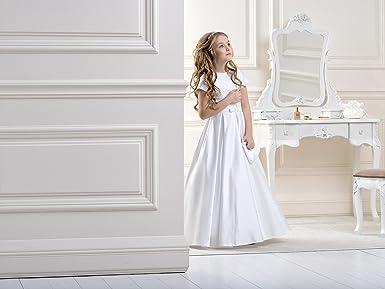 Lacey Bell Vestito Bambina Prima Comunione Damigella Raso Maniche Corte  Fiocco in Raso CD-18  Amazon.it  Abbigliamento 43743847291