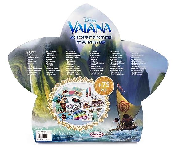 Vaiana Mon Coffret D Activites 75 Pcs Cvai002 Amazon Fr Jeux