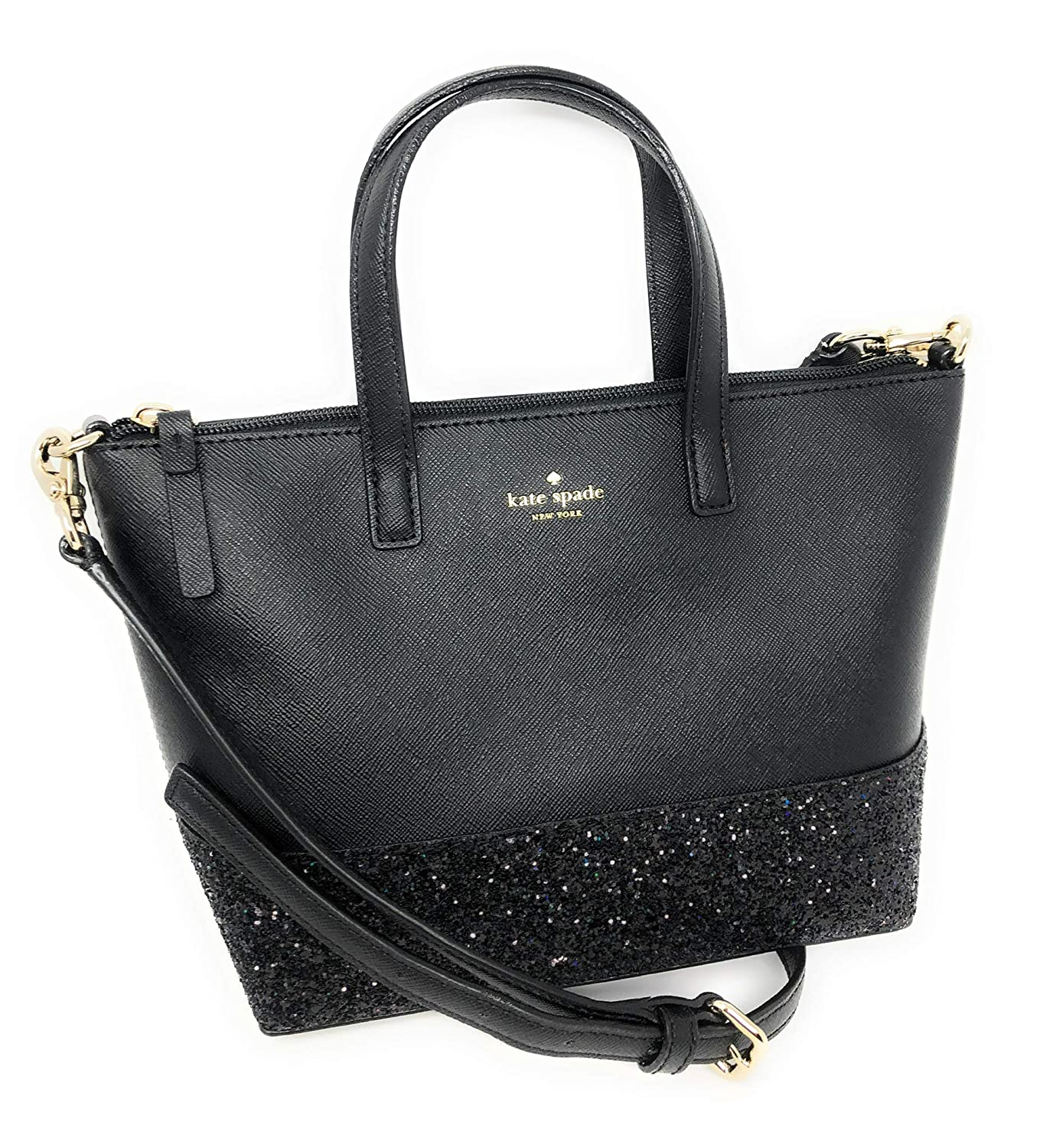 577b65bbd72d Amazon.com: Kate Spade New York Ina Greta Court Glitter Crossbody Bag Top  Handle Handbag (Black): Shoes