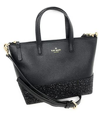 1ac9180187fc Kate Spade New York Ina Greta Court Glitter Crossbody Bag Top Handle Handbag  (Black)