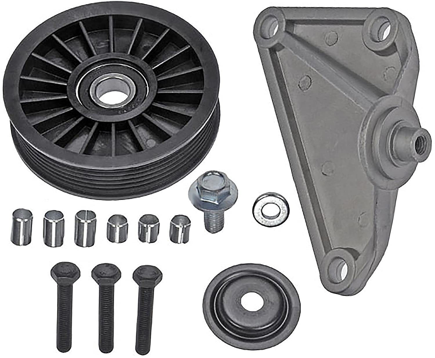 APDTY 45385 Air Conditioning Bypass Pulley Fits 2002-2005 Ford Explorer, 2005 Ford Explorer Sport Trac / 2002-2005 Mercury Mountaineer (Check Fitment Chart)